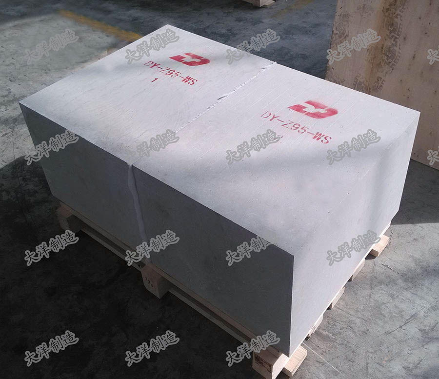 FUSED CAST DY-Z95WS BLOCKS EXPORTED TO AMERICA